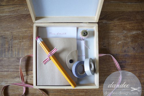 diy personalized letter writing kit from dandee
