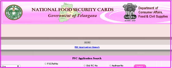 Telangana Aahara Bhadratha cards