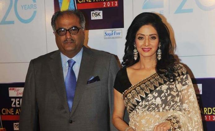 Acress Sridevi with Husband Stills