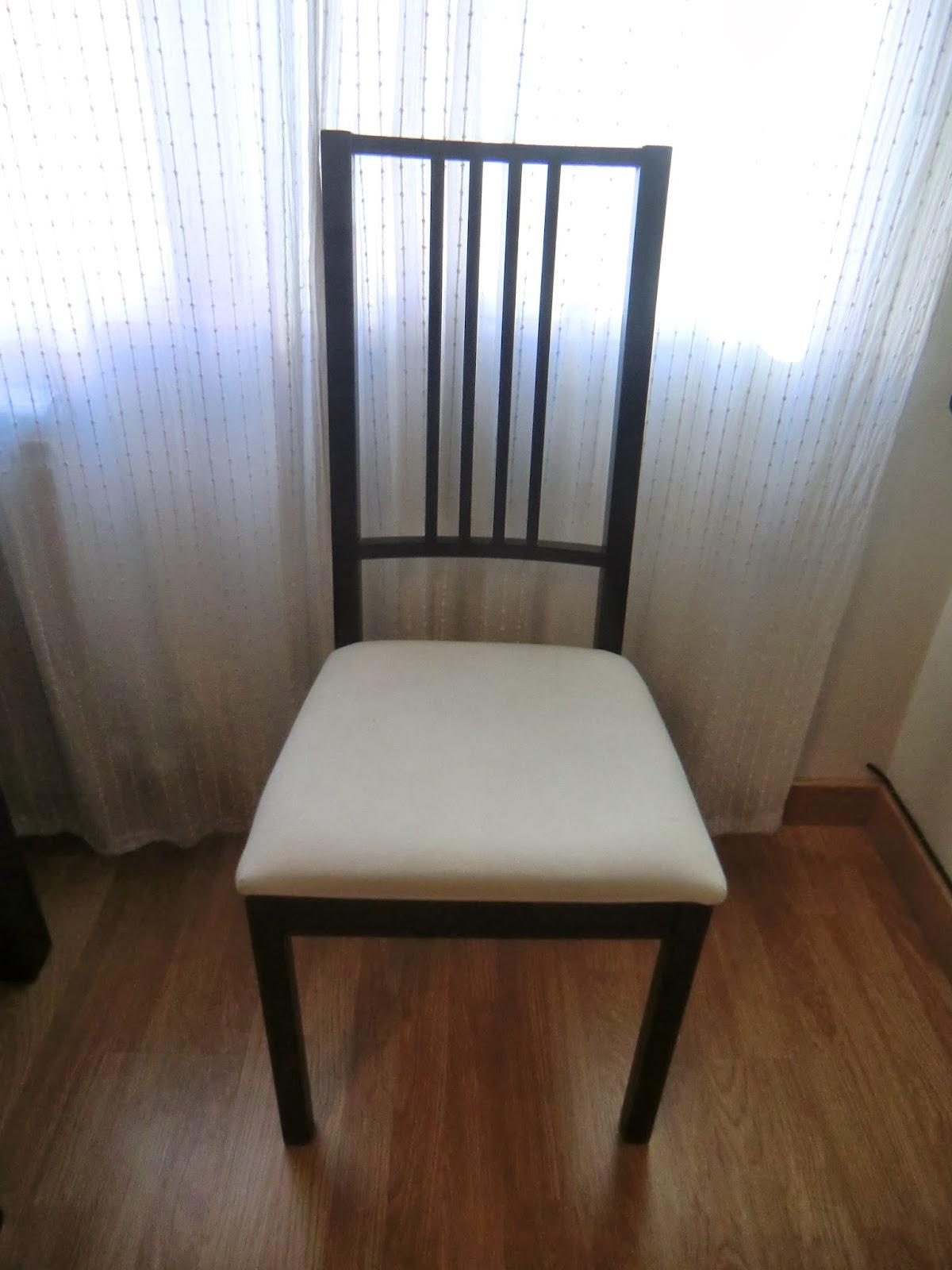Esmilaweb como tapizar unas sillas de comedor - Tapizar sillas comedor ...