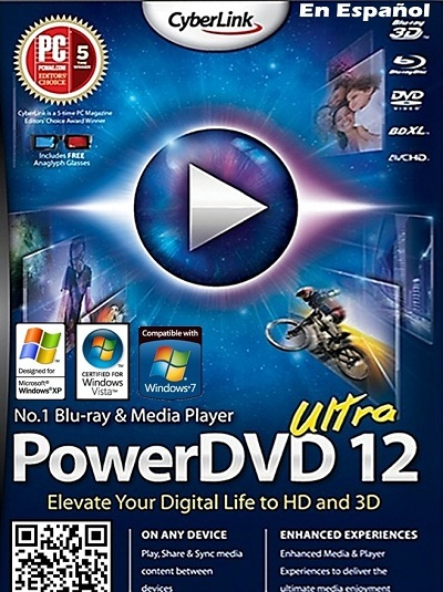 1 CyberLink Power DVD 12 Ultra Español FULL