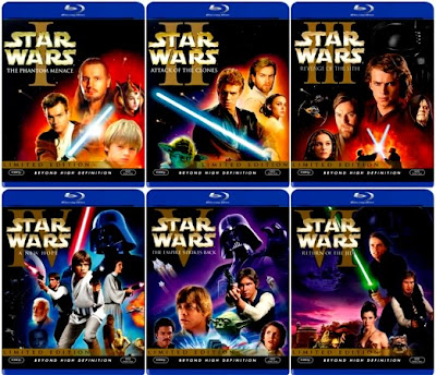 Download Star Wars: The Complete Saga (1977 2005) BDrip 720p HDTV [ English   All parts ] Single Links