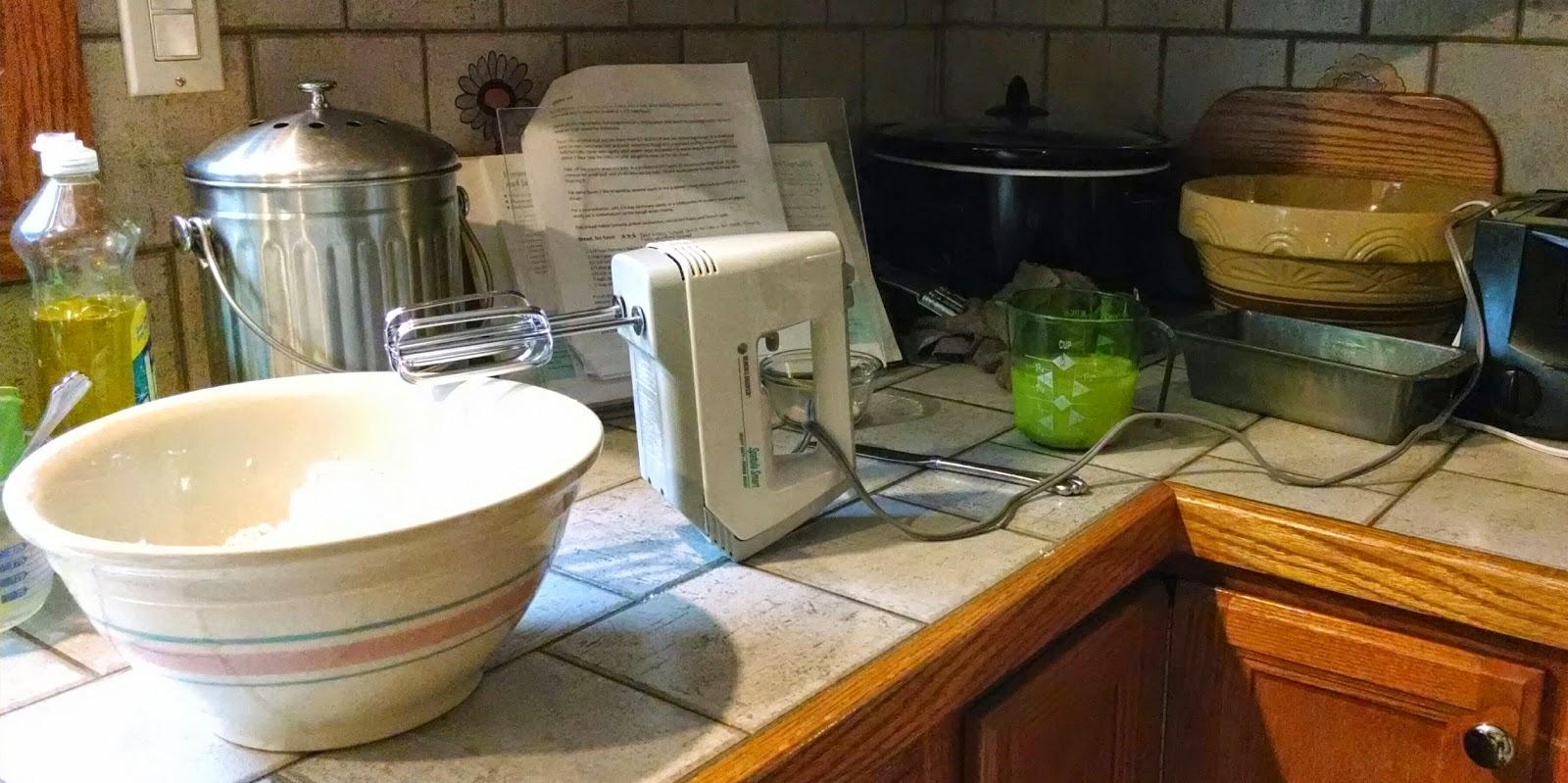 bowl, mixer, bread pan