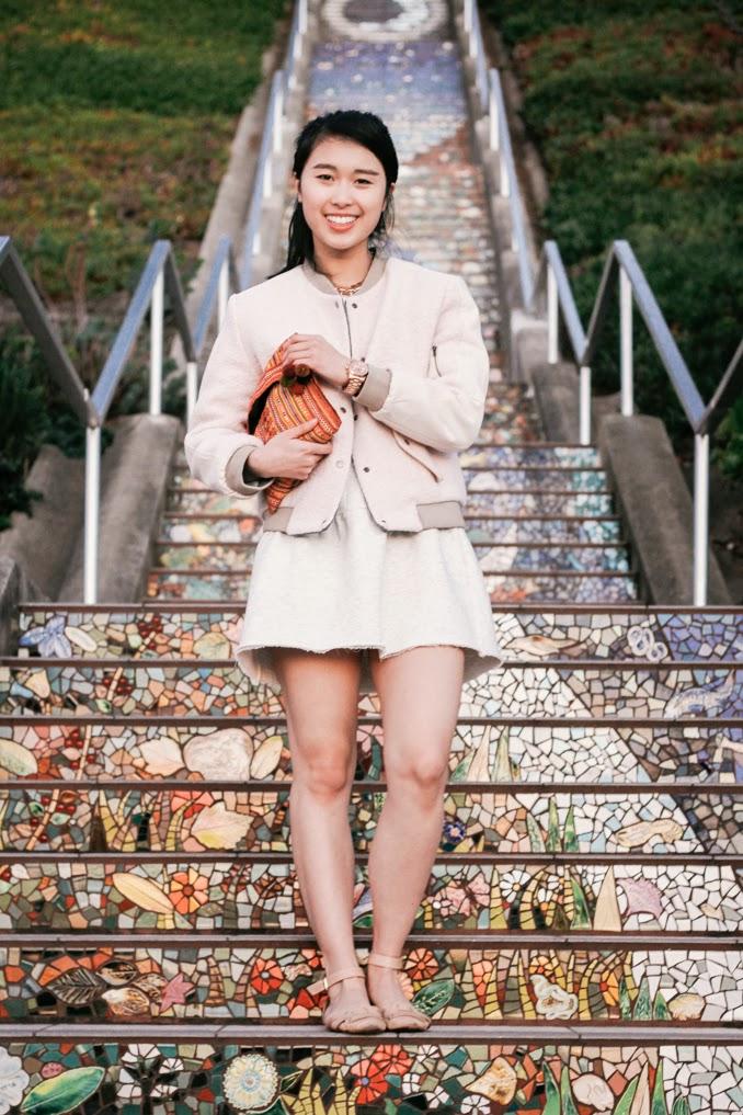 sf style blogger, bay area fashion blogger, readytwowear, baseball jacket, athletic chic style