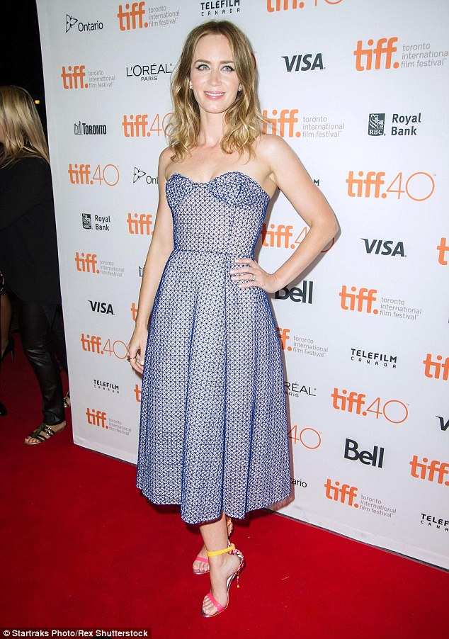 Emily Blunt at the Toronto International Film festival 2015