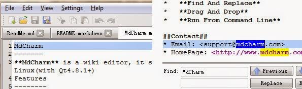MdCharm markdown editor desktop application