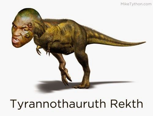 tyrannosaur rex mike tyson