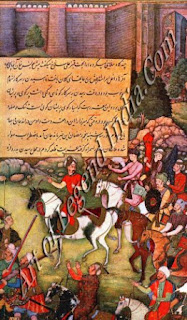 Babur in Char-Bagh at Andi Jan