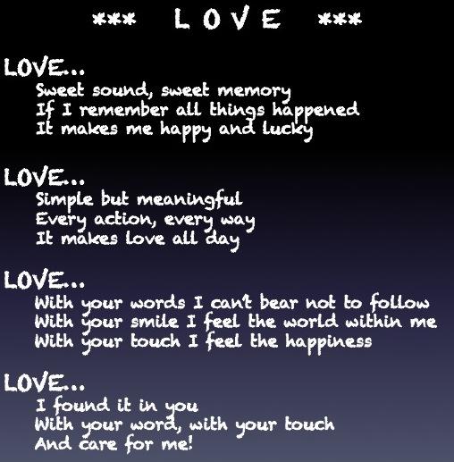ode poem love driverlayer search engine
