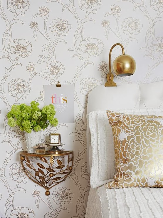beau lifestyle gold accents in the bedroom