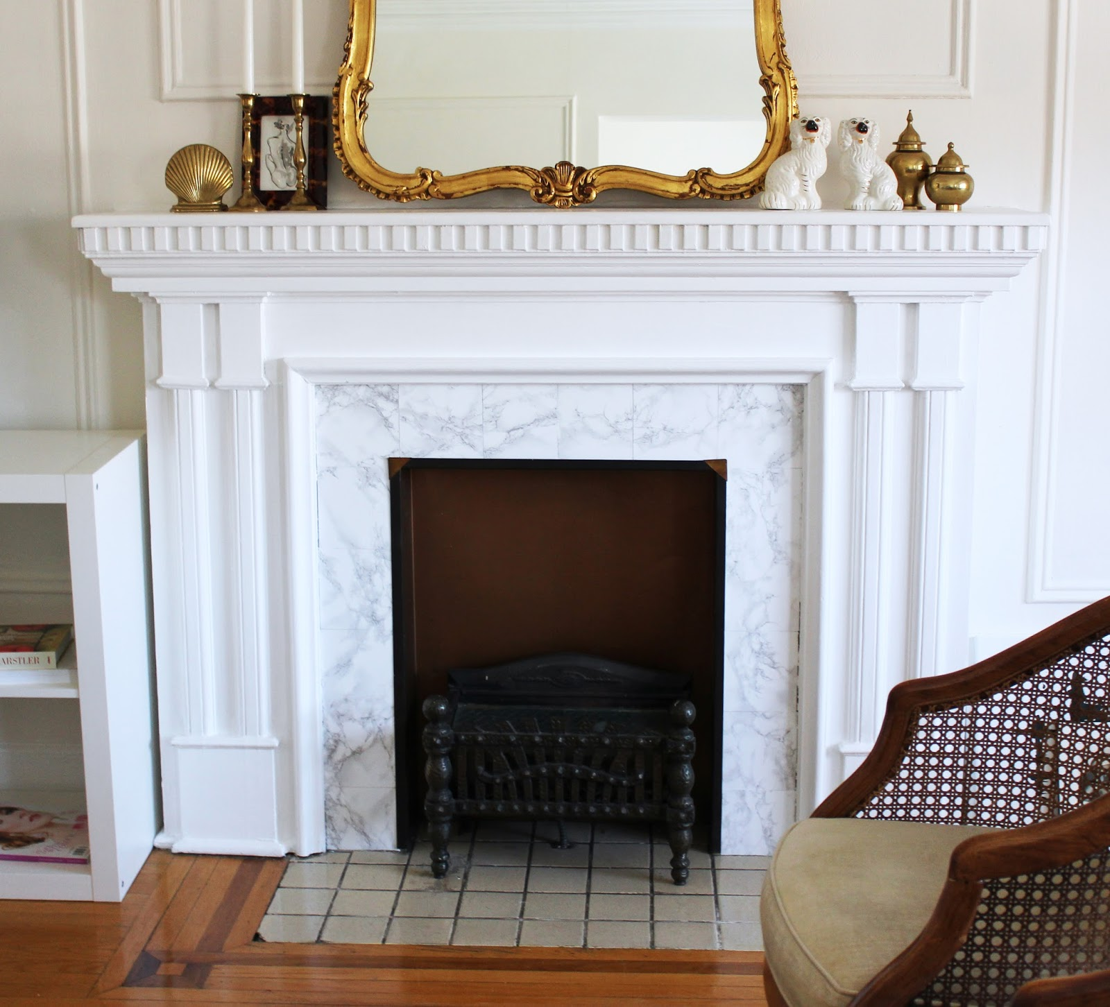 tiffany leigh interior design fireplace facelift a rental