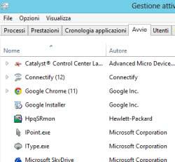 Esecuzione automatica in Windows 8