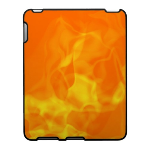 Hot Fiery Flames Background iPad Case