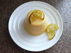 ... of the Blue Apocalypse: Mango Pudding with Candied Lime Slices