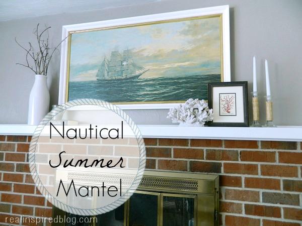 Nautical Summer Mantel