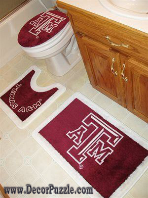 Fashionable bathroom rug sets and bath mats 2017