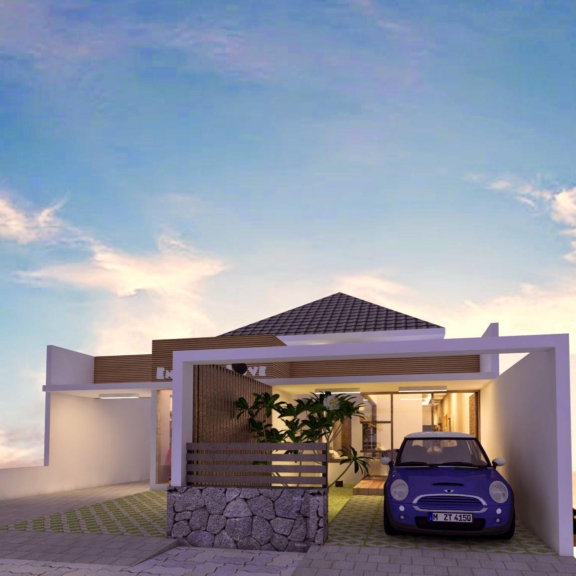 A Rumah Usaha Dengan Interior Bergaya Vintage 8x24 M Desain Siap