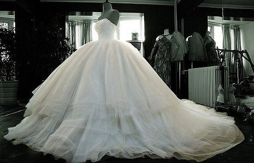 White Emo Wedding Dress