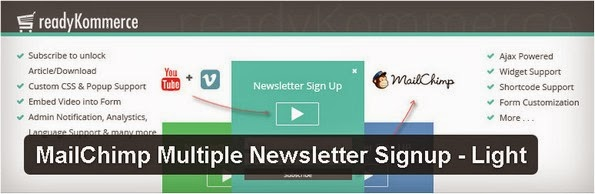 MailChimp Multiple Newsletter Signup plugin for WordPress