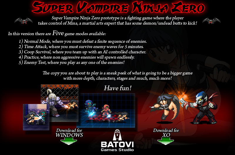 descargar super vampire ninja zero xo