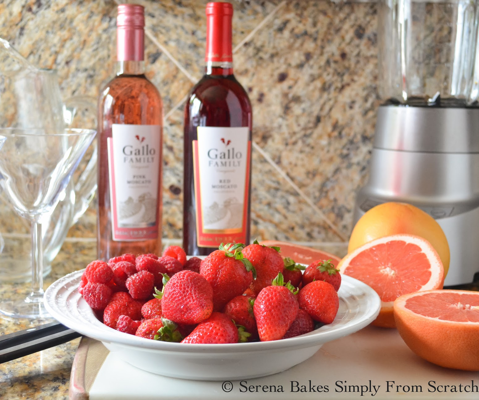 Sparkling Strawberry Grapefruit Moscato Punch # ...