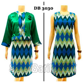 DB3030 - Model Baju Dress Batik Modern Terbaru 2013
