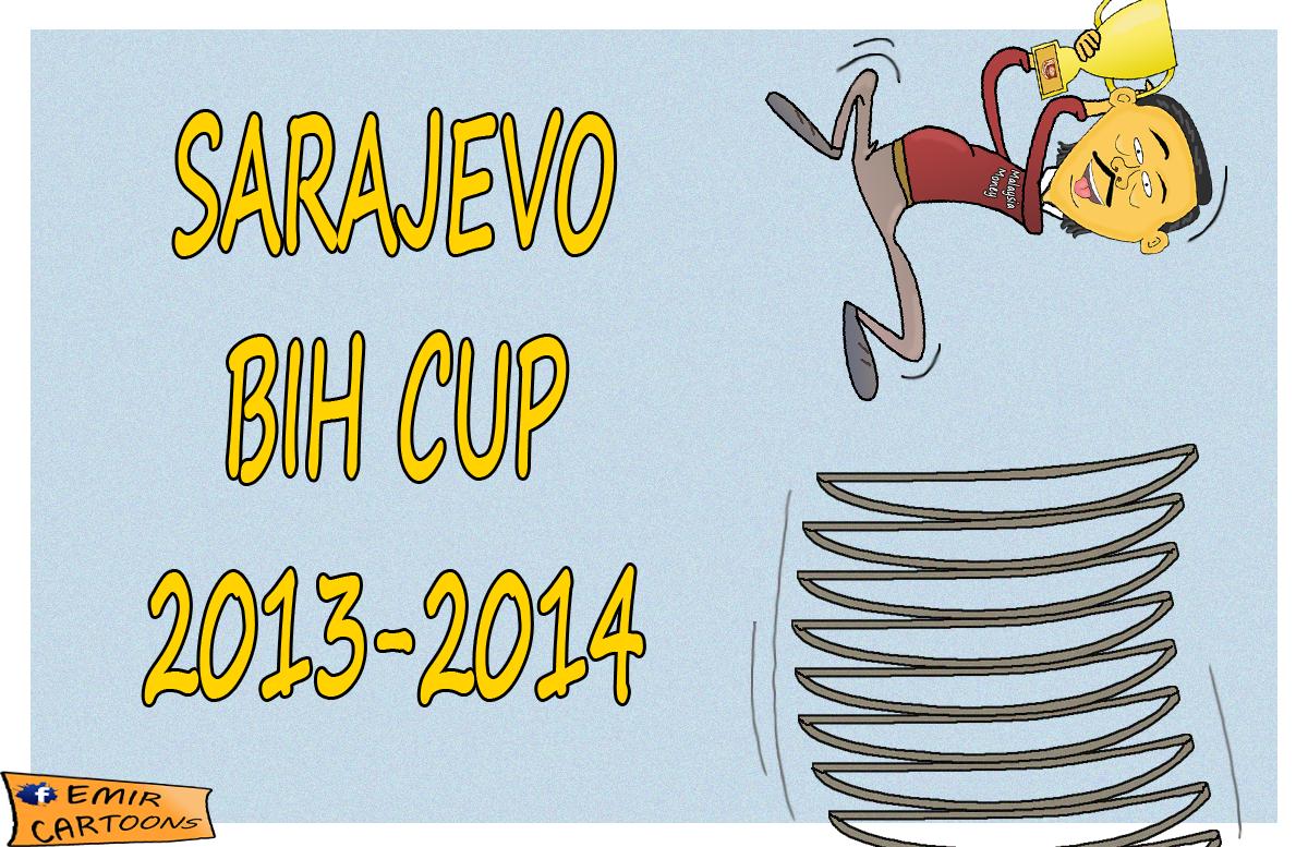 Sarajevo, Kup BIH ,2014,vincent tan, emir cartoons,emir balkan cartoons,karikature,karikatura dana,fudbal,