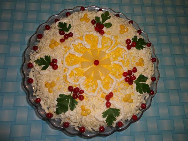 Салат ананасовый рецепт и