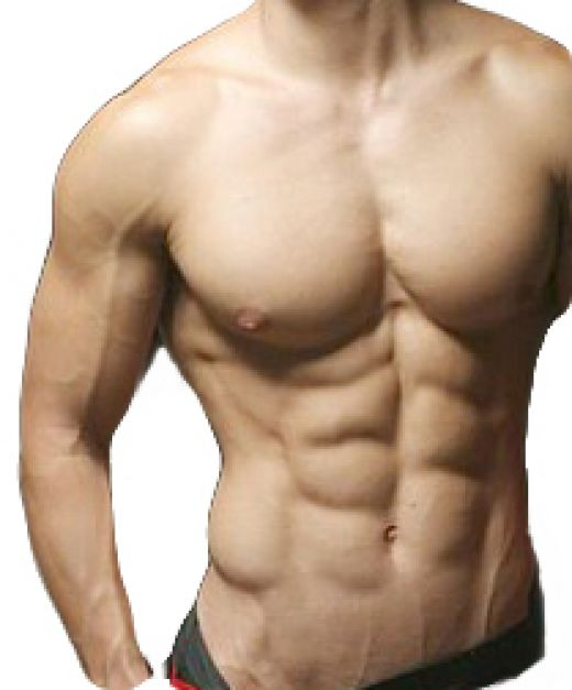Men with 8 Pack ABS