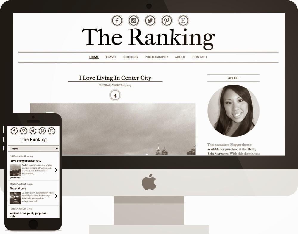 hello brio studio custom blogger template design
