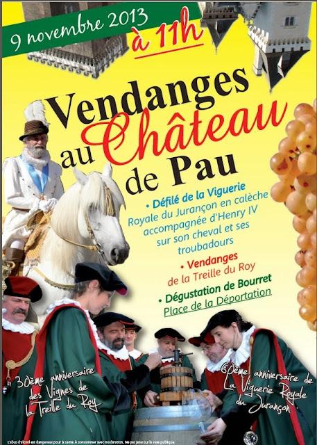 Vendanges au Château de Pau 2013