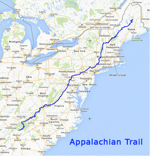 Mapa del Camino de los Apalaches