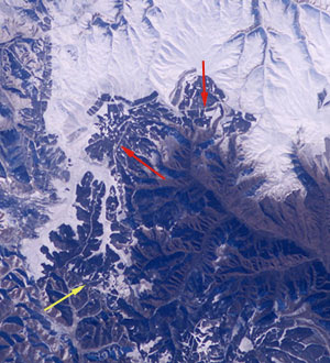 Great Wall of China from outer space