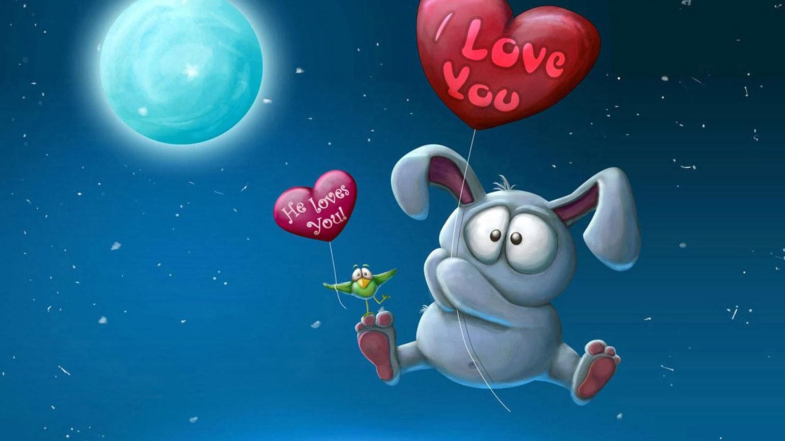 I Love You Funny Cartoon Wallpaper