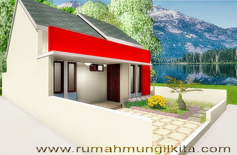 Renovasi rumah tipe 48 tanah 93 lebar 6 m - tampak samping kanan rumah