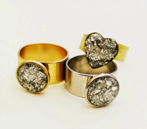 gold and silver rings / catherine masi