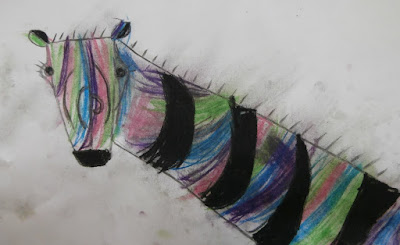 art activity for kids pastels and charcoal