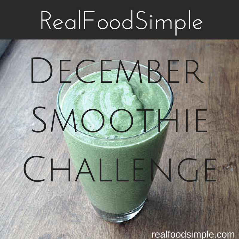 Why wait til the new year to start making healthy habits. Now is a great time to start the smoothie challenge. It is a quick, simple way to get more fruits and veggies in your day and will help you on those busy mornings when you don't have a lot of time for breakfast. | realfoodsimple.com