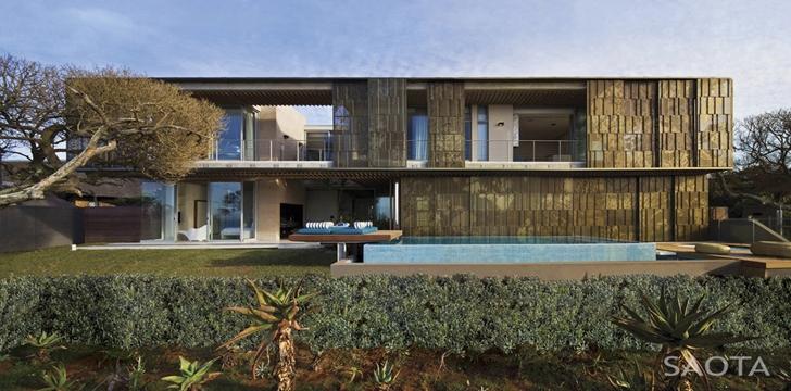 African modern villa in Durban by SAOTA