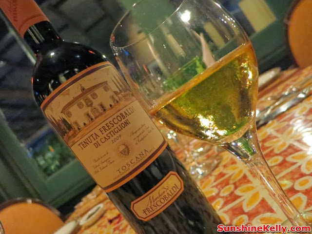Frescobaldi Wine, Dinner, Villa Danieli, Sheraton Imperial hotel
