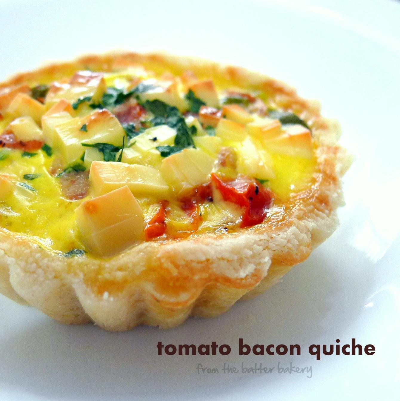 the batter baker: Mini Tomato Bacon Quiche