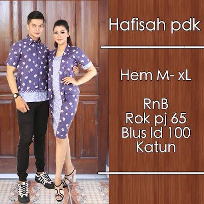 Model baju batik pasangan jumputan Ungu