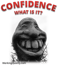 Picture of smiling statue - Confidence - what is it?
