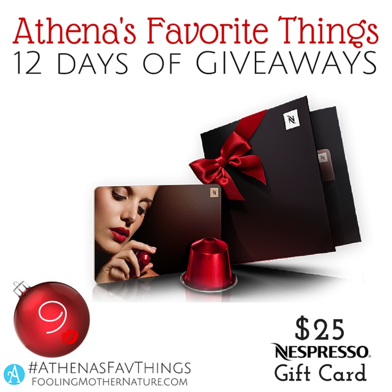 Fooling Mother Nature: GIVEAWAY 9 - Nespresso Gift Card ($25)