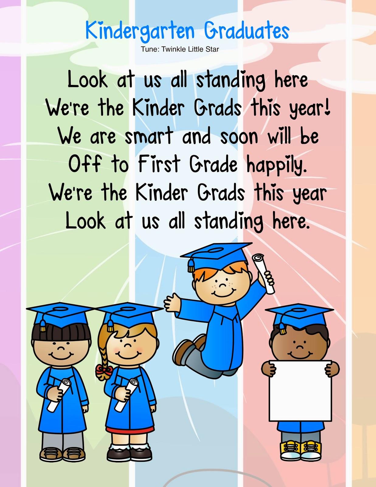 what to say at a preschool graduation kindergarten kiosk summer homework calendar amp free song 266