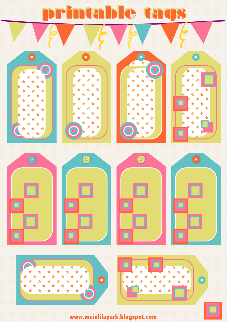 Free printable candy tags and scrapbooking borders - ausdruckbare ...