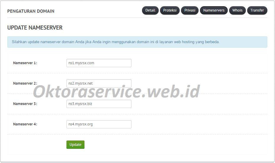 masukan name server