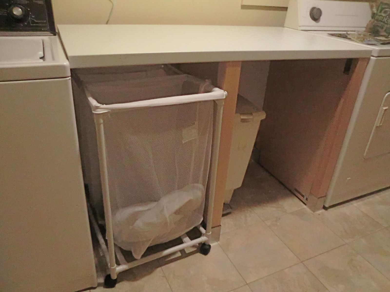 Laundry Countertop Materials : HOME: Laundry folding station out of a dishwasher cabinet