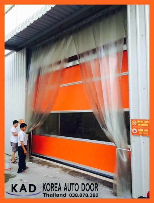 high speed door Thailand installed the doors