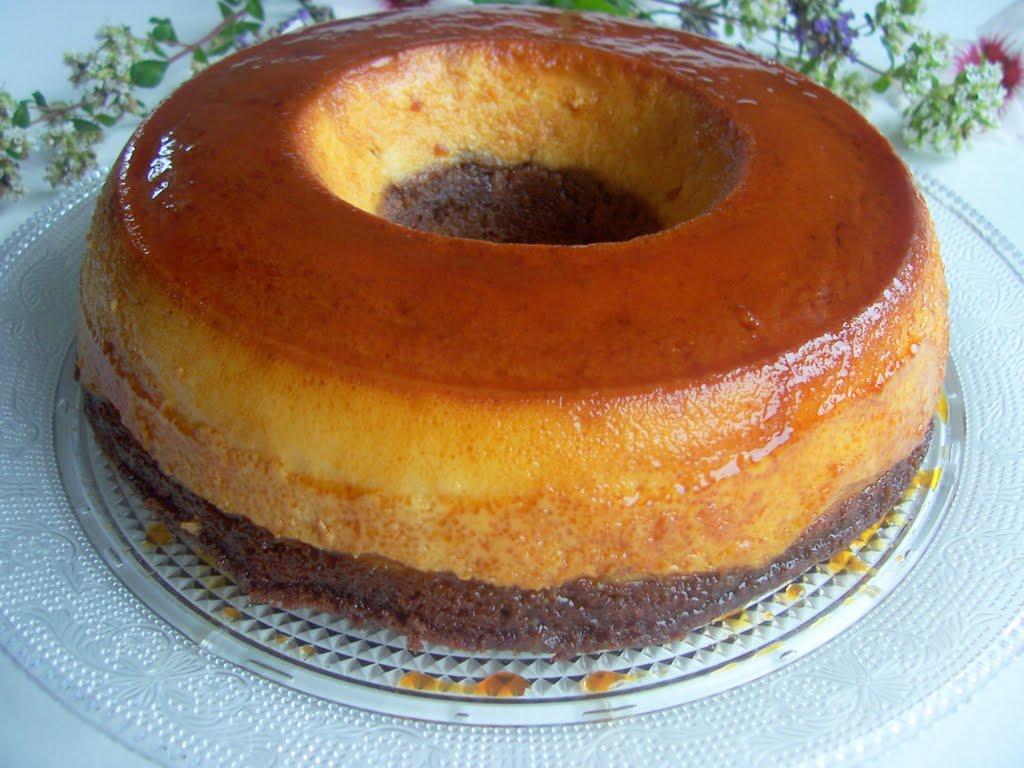 Una pincelada en la cocina choco flan o pastel imposible - Como se hace el flan de huevo al bano maria ...